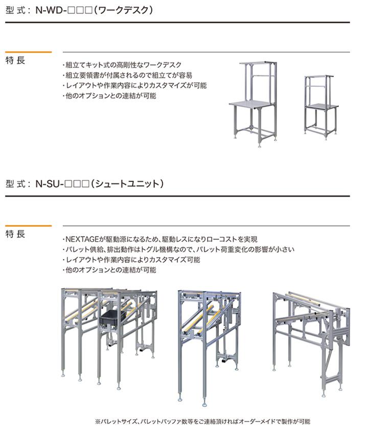 NEXTAGE Options ALFA ワークデスク / ALFA シュートユニット